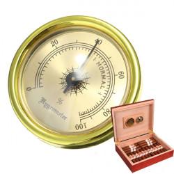Precision Analog Hygrometer Feuchtemessgerät für Tabak Zigarren Humidor