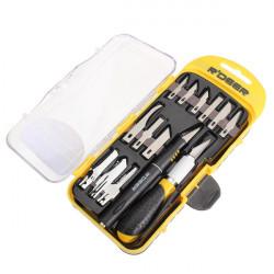 R'DEER 14pcs Hobby Knife Set/Carving Knife/Lettering Knife/DIY Tools