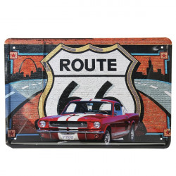 Route 66 Bil Plåtskylt Vintage Metall Plaque Poster Bar Hem- Väggdekor