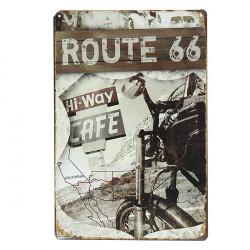 Route 66 Retro Vintage Metal Plaque Blikskilt Bar Pub Vægudsmykning