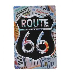 Route 66 Blikskilt Vintage Metal Plaque Blikskilt Bar Pub Hjem Vægudsmykning