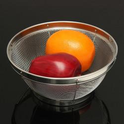 Rustfrit Stål Fin Mesh Sieve Strainer Dørslag for Frugt Vegetable