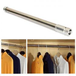 Rostfritt Stål Tension Rod Indragbar Hängande Stav för Klädkammare
