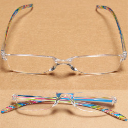 Super Light Blue Reading Glasses Bars Antiskid Resin