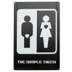 The Simple Truth Tin Sign Vintage Metal Plaque Pub Bar Wall Decor Industrial & Scientific