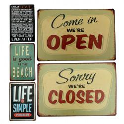 Blechschild Jahrgang Metallplakette Home Bar Cafe Garage Pub Wand Dekor