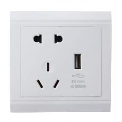USB Anschluss elektrische Wandladestation Sockeladapter Steckdosen