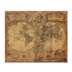 Vintage Retro 1746 Wall Verdenskort Paper Poster Hjem Vægudsmykning