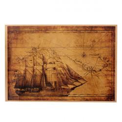 Vintage Retro Navigation Kort Voyage Paper Poster Hjem Vægudsmykning