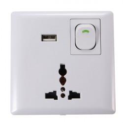 Steckernetzteil Ladegerät AC + USB Outlet Anschluss Schnittstellen Sockel