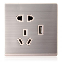 Wandsteckdosenverteiler Elektrische Energieversorgung Outlet mit einem USB Anschluss