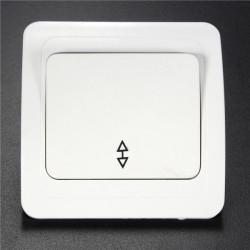 Wall Socket Panel Lamp Switch Knap 1-Gang 2-Vejs 10A Light Controller