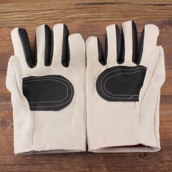 Vit Duk Läder Labor Handskar Använd Skyddshandskar Industri & Vetenskap