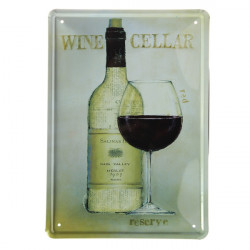 Wine Cup Tin Sign Vintage Metal Plaque Poster Bar Pub Home Wall Decor