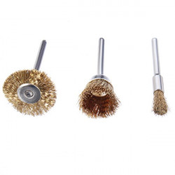 Wire Brass Brush Brushes Wheel Dremel Accessories for Rotary Tools