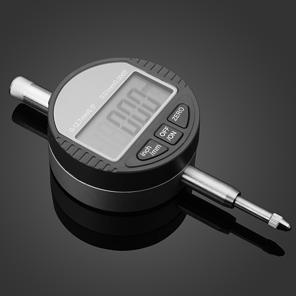 0-12.7mm/0.5inch 0.01mm Digital Dial Indicator Electronic Dial Gauge Professional Instruments & Tools