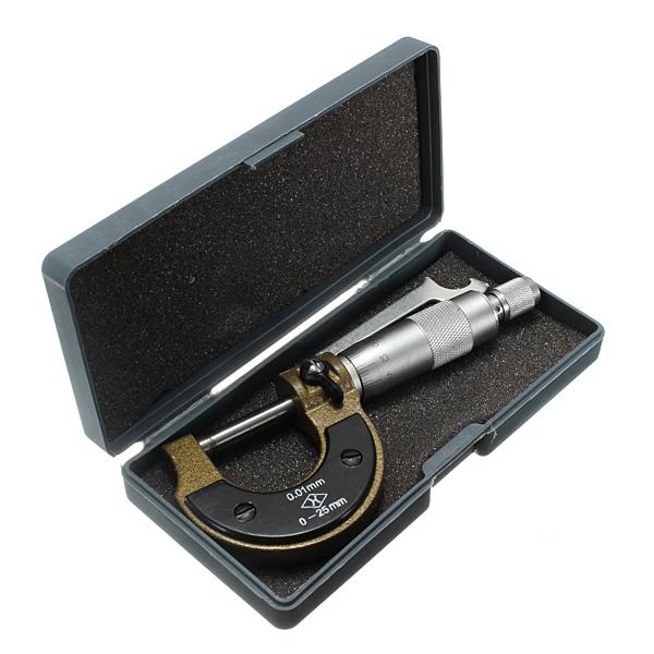 0-25mm 0.01mm Metric Diameter Micrometer Gauge Caliper Værktøj Instrument & Værktøj