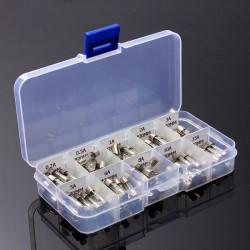 100stk 5x20mm Elektrisk Sikring Amp Fast-slag Glass Fuse Box
