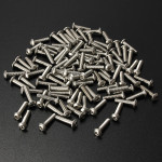 100Pcs M3 Bolts Stainless Steel Screws Button Head Socket Cap 10 Size Professional Instruments & Tools