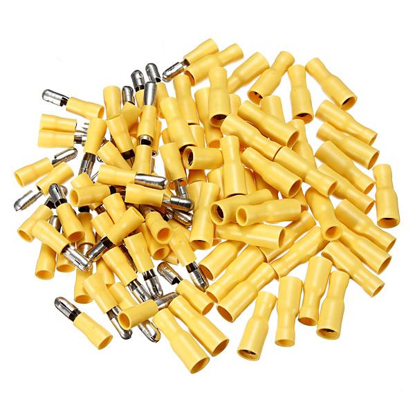 100stk Mænd & Hun Isoleret Wire Bullet Crimp Connector Terminal Instrument & Værktøj