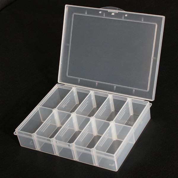 10 Fach Aufbewahrungs Kunststoff Einstellbare Elektronik Werkzeug Kasten Kasten