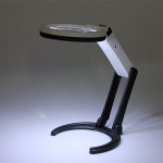 10 LED-belysning Desk Handlampa med 1,8X 5X Magnifier Instrument & Verktyg
