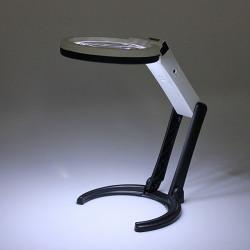 10 LED-belysning Desk Handlampa med 2.5x 8X förstorings