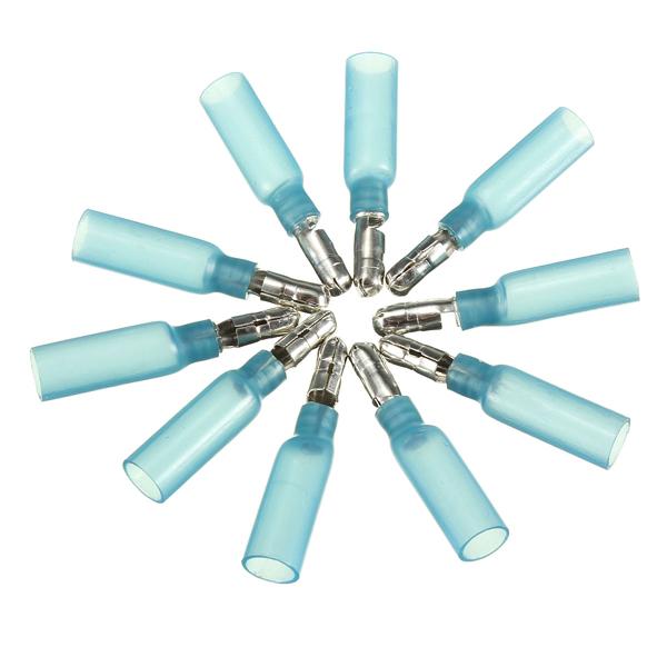10er 0.7cm Blau Terminals Isolierte Male Gewehrkugel Verbindungs 1.5 2.5mm² 16 14AWG Instrumente und Werkzeuge