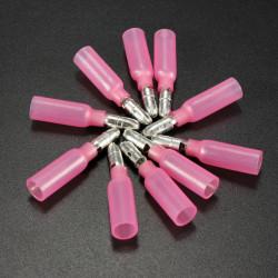 10st 0.7cm Röda Terminal Hane Bullet Anslutning 0.5-1.5mm² 22-16AWG