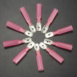 10er 0.7cm Red Terminals männlich Flachstecker 0.5 1.5mm² 22 16AWG