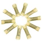 10stk 0.7 Cm Gul Terminals Isoleret Kabelsko Samler 4.0-6.0mm² 12-10AWG Instrument & Værktøj