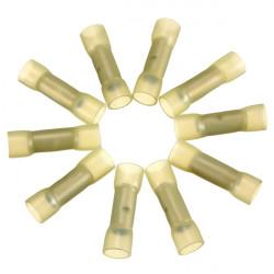 10stk 0.7 Cm Gul Terminals Isoleret Kabelsko Samler 4.0-6.0mm² 12-10AWG