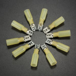 10stk 0.7 Cm Gul Terminals Isolerede Hun Spade Kabelsko 4.0-6.0mm² 12-10AWG Instrument & Værktøj