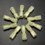 10stk 0.7 Mm Gul Terminals Fuldt Isoleret Hun Bullet Connector 4.0-6.0mm² 12-10AWG Instrument & Værktøj