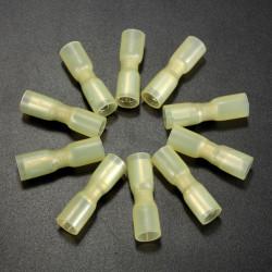 10st 0.7mm Gula Terminal Helt Isolerad Hona Bullet Kontakt 4.0-6.0mm² 12-10AWG
