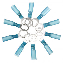 10PCS 10.5mm Blue Terminals Insulated Ring Connector 1.5-2.5mm² 16-14AWG M10