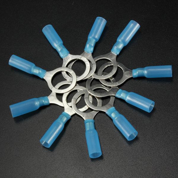 10stk 13mm Blau Terminals Isolierte Klemmring 1.5 2.5mm² 16 14AWG M13 Instrumente und Werkzeuge