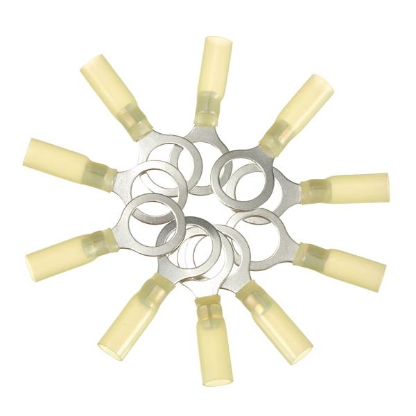 10stk 13mm Gule Terminals Isolerede Kabelsko Øje 4.0-6.0mm² 12-10AWG M13 Instrument & Værktøj