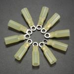 10stk 4.3mm Gelb Terminals Klemmring 4.0 6.0mm² 12 10AWG M4 Instrumente und Werkzeuge