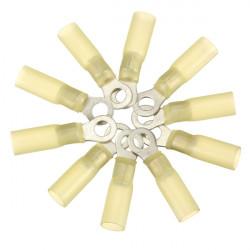 10st 5.3mm Gula Terminal Ringkabelsko 4.0-6.0mm² 12-10AWG M5