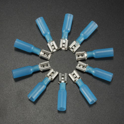 10PCS 6.3mm Red Terminals Female Spade Connector 1.5-2.5mm² 16-14AWG