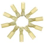 10stk 6.3mm Gelb Terminals Ganz isoliert Gabelsteckerbuchse 4.0 6.0mm² 12 10AWG Instrumente und Werkzeuge