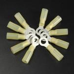 10st 6.3mm Gula Terminal Isolerad Ringkabelsko 4.0-6.0mm² 12-10AWG M6 Instrument & Verktyg