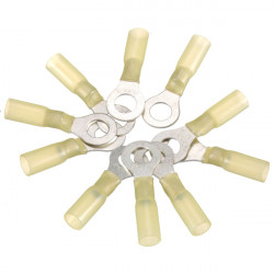 10st 8.4mm Gula Terminal Isolerad Ringkabelsko 4.0-6.0mm² 12-10AWG M8