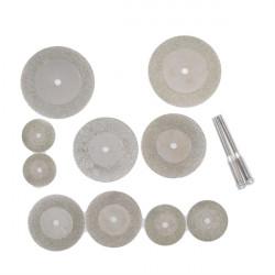 10 st diamantslipning Slice Dremel kapskivor för Rotary verktyg
