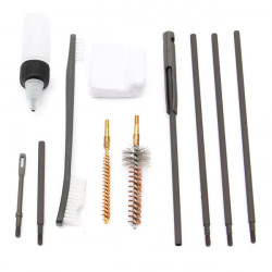 10 Pcs For .22 .22LR .223 .257 Rifle Gun Rod Nylon Brush Cleaning Kit