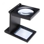 10X Zink Legierung Schwarz Metal Folding Mini Lupe mit Skala Pouch Instrumente und Werkzeuge