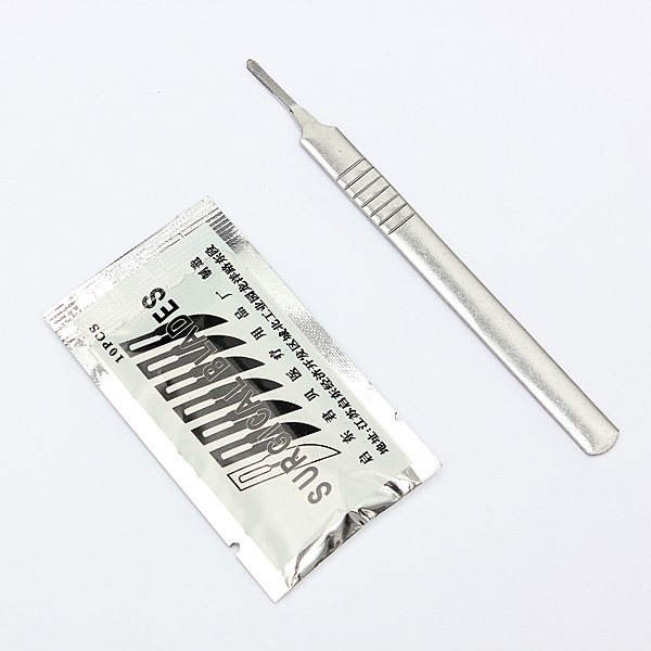 10pcs #11 Carbon Steel Surgical Scalpel Blades + 1pc #3 Handle Professional Instruments & Tools