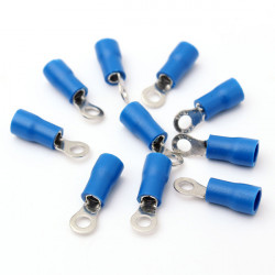 10pcs Blue Rubber PVC Terminals Insulated Ring Connector RC 1.5-2.5mm²