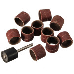 10pcs DREMEL 60 Grit Sanding Bands with 1pc Sanding Drum Mandrel Professional Instruments & Tools